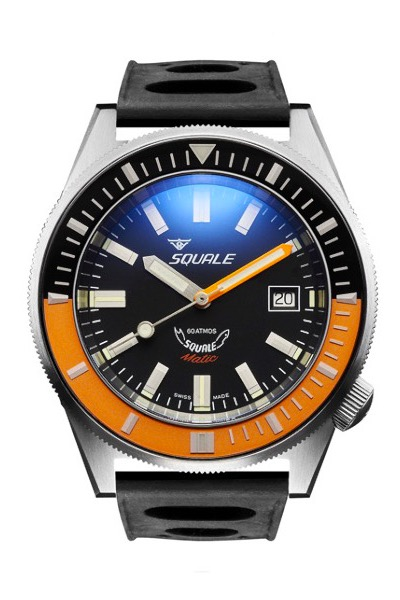 Squale Matic Satin Black/orange