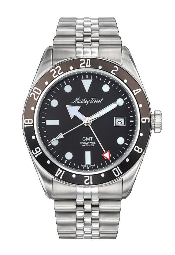 Mathey-Tissot Rolly GMT Black Brown