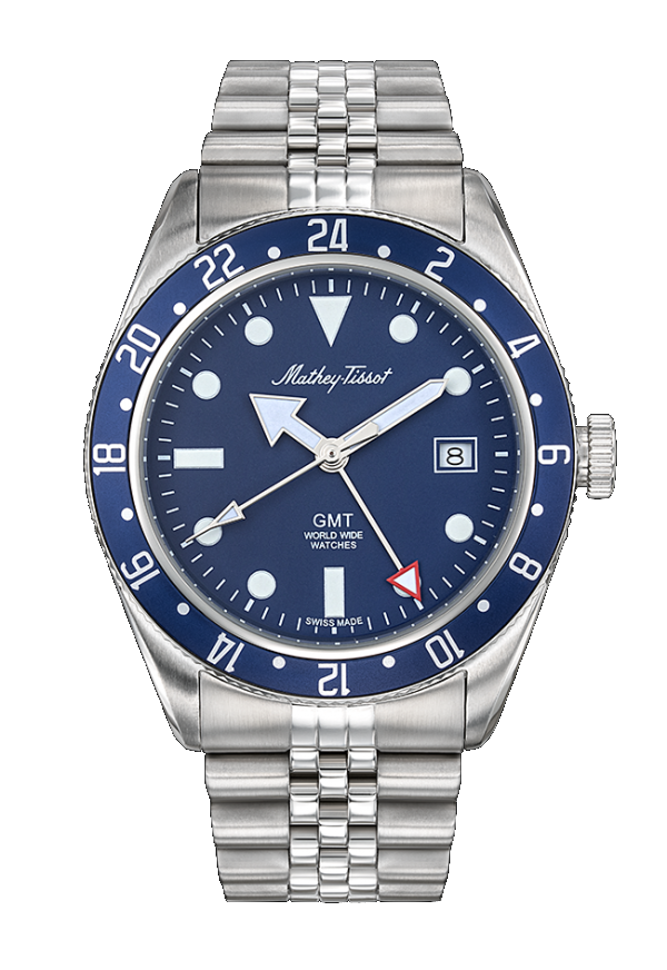Mathey-Tissot Rolly GMT Blue
